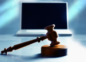 Laptop and Gavel